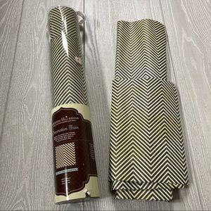 "Herringbone contact paper drawer liner 18"" wide"